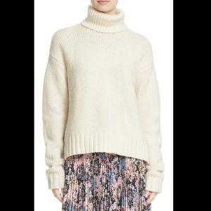 A.L.C. Cream 4Ply Wool Jake Turtleneck Sweater